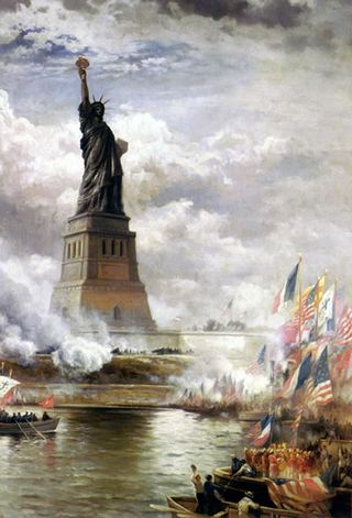 Edward-moran-statue-liberty