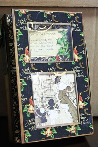 CHA-S Altered Art Box Christmas 1