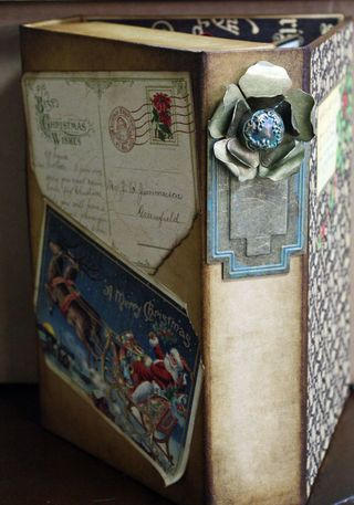 CHA-S Altered Art Box Christmas 4
